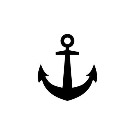 Anchor icon vector.