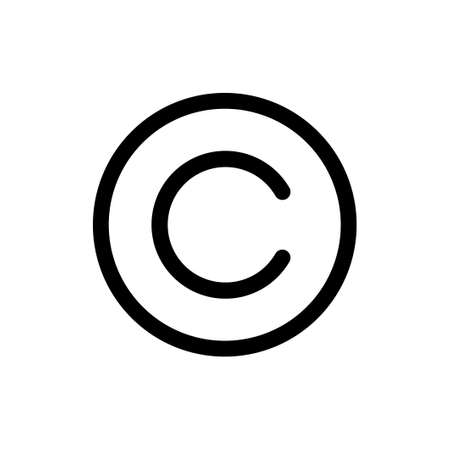 Copyright icon vector. copyright symbols