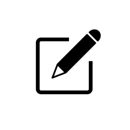 Edit icon vector. edit document icon. edit text icon. pencil. sign up
