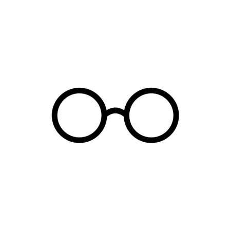 Glasses icon vector. Glasses vector icon