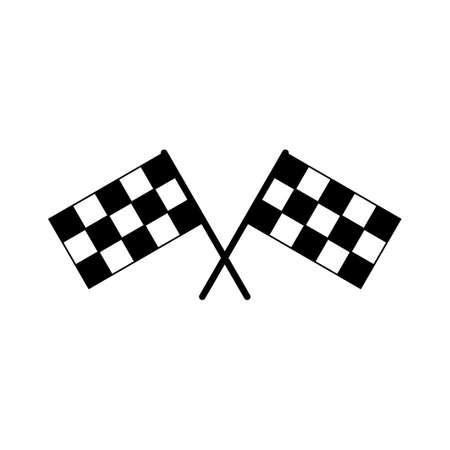 Racing flag icon vector. race flag icon.Checkered racing flag icon 向量圖像