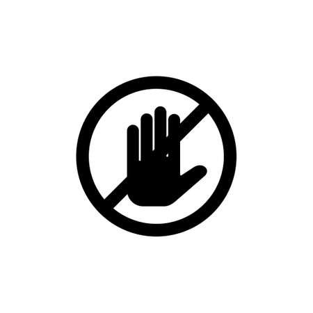 Stop icon vector. stop road sign. hand stop icon vector