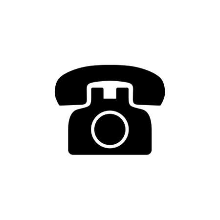 Telephone icon vector. phone icon vector.