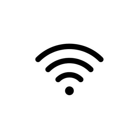 Wifi icon vector. signal vector icon. Wireless icon vector