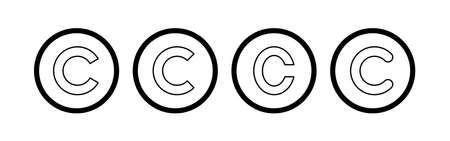 Copyright icon vector. copyright symbols