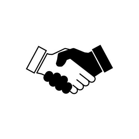Handshake icon vector. business handshake. contact agreement