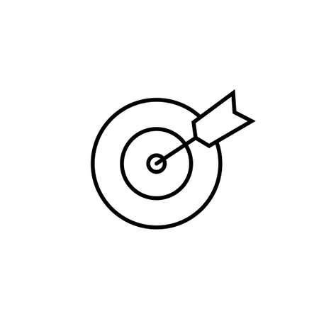 Target icon vector. goal icon vector. target marketing icon vector