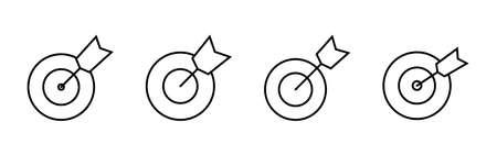 Target icon vector. goal icon vector. target marketing icon vector Ilustración de vector
