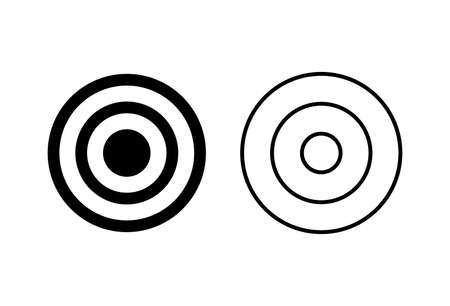 Target icon set. goal icon vector. target marketing icon vector Ilustración de vector