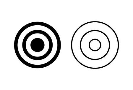 Target icon set. goal icon vector. target marketing icon vector Vetores