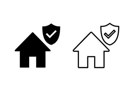 house insurance icon set. house protection icon.