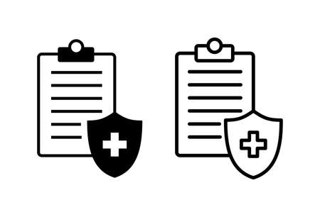Medical insurance icon set. health insurance icon
