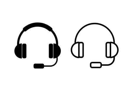 Headphone icon vector. Headset icon symbols