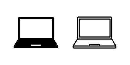 Laptop icon set. computer icon vector