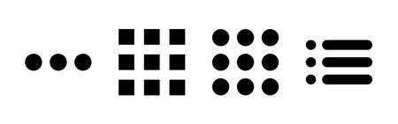Menu Icon set. web menu icon. hamburger menu symbol Vecteurs