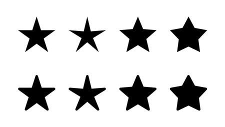 Star Icon set. rating icon vector. favourite star icon