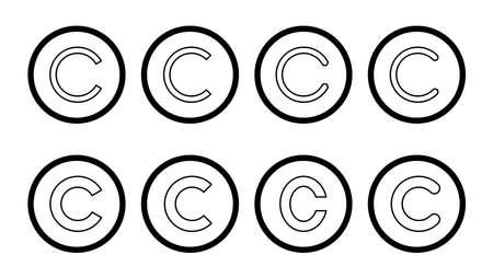 Copyright icon set. copyright symbols Vektoros illusztráció