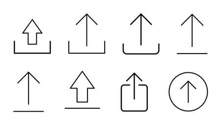 Upload icon set. load data symbol