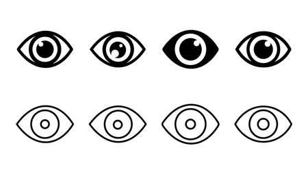 Eye icon set. Eye vector icon. Look and Vision icon. Vektoros illusztráció
