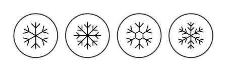 Snow icon set. snowflake icon vector Vektorgrafik