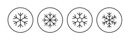 Snow icon set. snowflake icon vector Vektoros illusztráció
