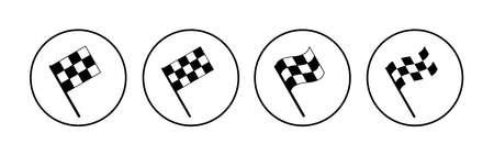 Racing flag icon set. race flag icon.Checkered racing flag icon