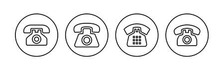 Telephone icon set. phone icon vector. Ilustración de vector