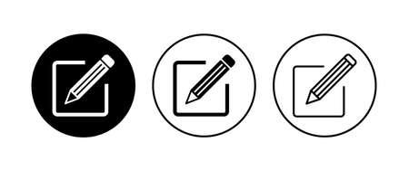 Edit icon set. edit document icon. edit text icon. pencil. sign up