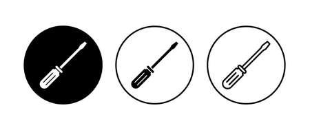 Screwdriver icon set. tools icon vector
