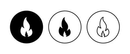 Fire icon set. fire vector icon