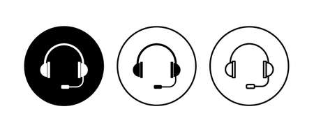 Headphone icon set. Headset icon symbols Vektorové ilustrace