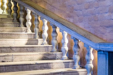 financial official: A White Marble Staircase Stock Photo