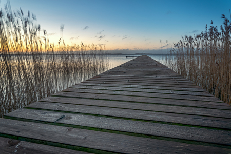 View of the Baltic sea along a boat dock. Concept: postcards or vacation and travel