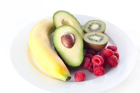 plate of a fresh fruits