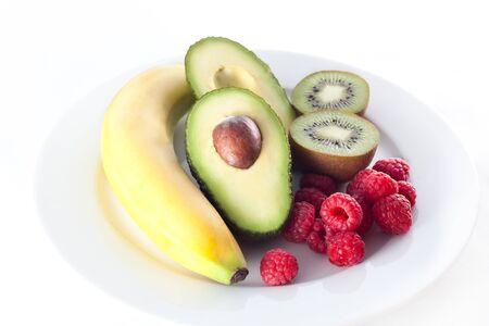 Platte aus einem frischen Früchten Standard-Bild - 12401831