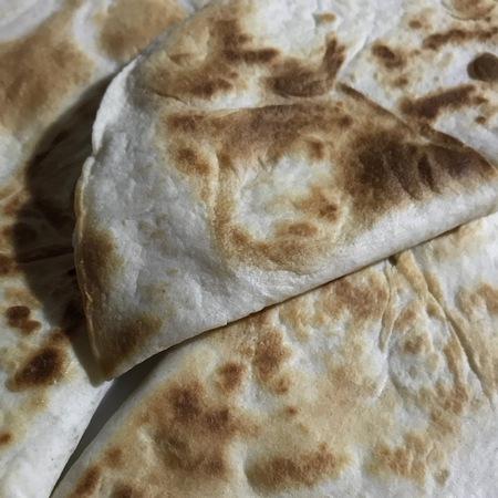 Closeup of some delicious quesadillas