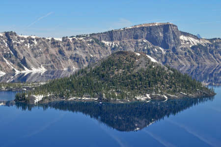 state of oregon: view of the crater lake at the state oregon