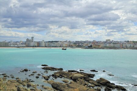 landscape of La Coruna, Galicia, Spain