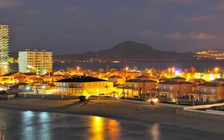 view of la Manga del Mar Menor, Murcia, Spain 免版税图像