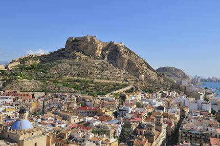 view of fortress of Santa Barbara, Alicante, Spain photo