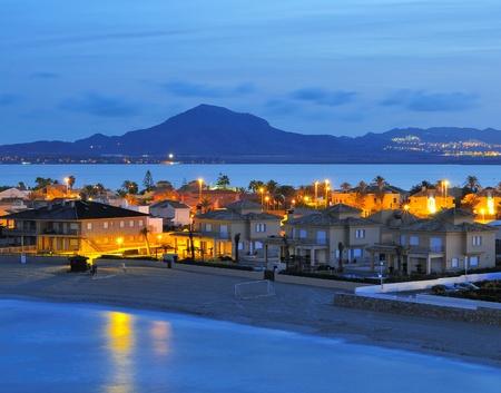 anime: view of la Manga del Mar Menor, Murcia, Spain Stock Photo