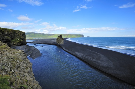 view of coast of Dyrholaey, Iceland 免版税图像