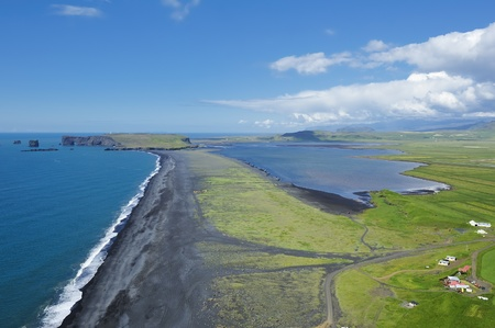 view of south coast at Dyrholaey, Iceland photo