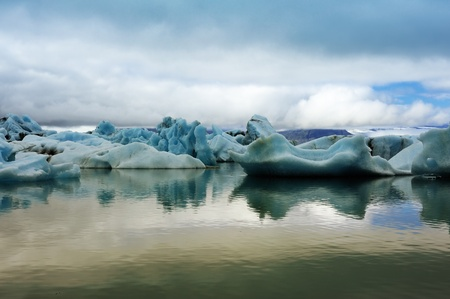 famous Ice Lagoon Jokulsarlon, Iceland photo