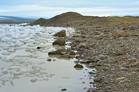 fjallsarlon: coast of  Fjallsarlon glacier lake, Iceland Stock Photo