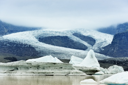 view of  Fjallsarlon glacier, Iceland photo