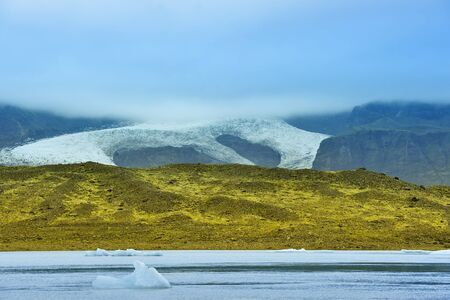 view of  Breidarlon glacier, Iceland photo