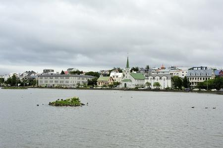 reykjavik: lago Tj�rnin, Reykjavik, Islandia