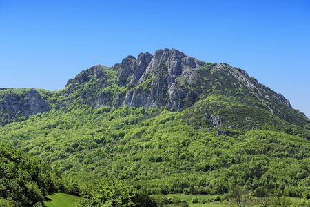 the peak of Bugarach, Languedoc-Roussillon, France where peoples may be saved in apocalypse by the mayan calendar Stock Photo - 15014226