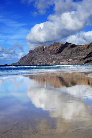 coast of  Famara, Lanzarote, Canary Islands, Spain photo